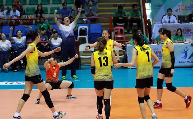 """Bóng chuyền nữ châu Á: Việt Nam """"đè bẹp"""" Đài Loan, chinh phạt SEA Games"""