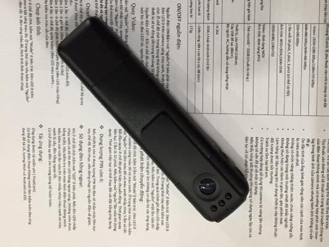 Cảnh sát 141 Hà Nội dùng camera siêu nhỏ - Ảnh 1.