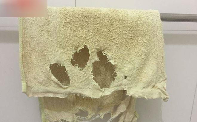 """Dùng khăn tắm nát như xơ mướp, chồng không mua mới còn đem lên mạng khoe """"vì tôi thương vợ"""""""