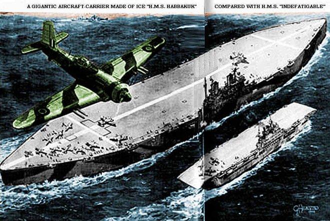 Lật lại kế hoạch quái dị xây tàu sân bay bằng băng của Anh - Ảnh 1.