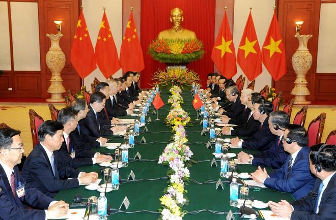 Tổng Bí thư Nguyễn Phú Trọng hội đàm với Tổng Bí thư, Chủ tịch Trung Quốc Tập Cận Bình - Ảnh 1.