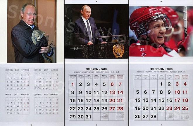 Công ty Nga tung bộ lịch ông Putin siêu ... ngầu - Ảnh 1.
