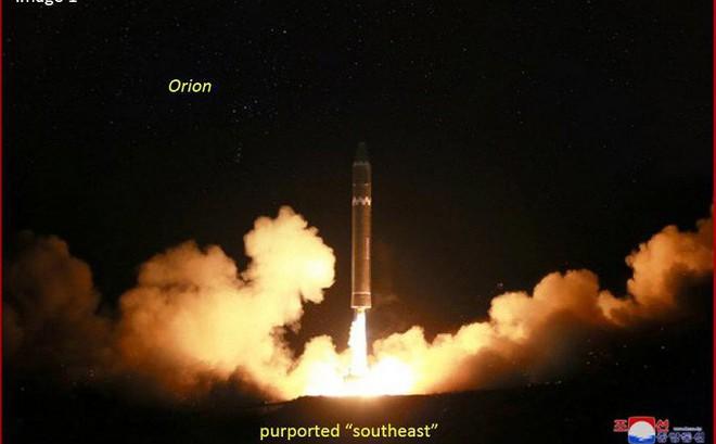 Những chi tiết này khiến Triều Tiên bị nghi sửa ảnh phóng tên lửa có thể vươn đến Washington