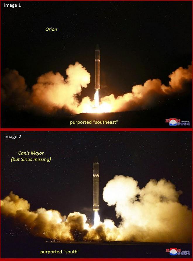 Những chi tiết này khiến Triều Tiên bị nghi sửa ảnh phóng tên lửa có thể vươn đến Washington - Ảnh 1.
