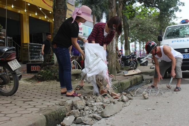 Nhà mặt phố ở Hà Tĩnh ủng hộ dọn dẹp vỉa hè - Ảnh 11.