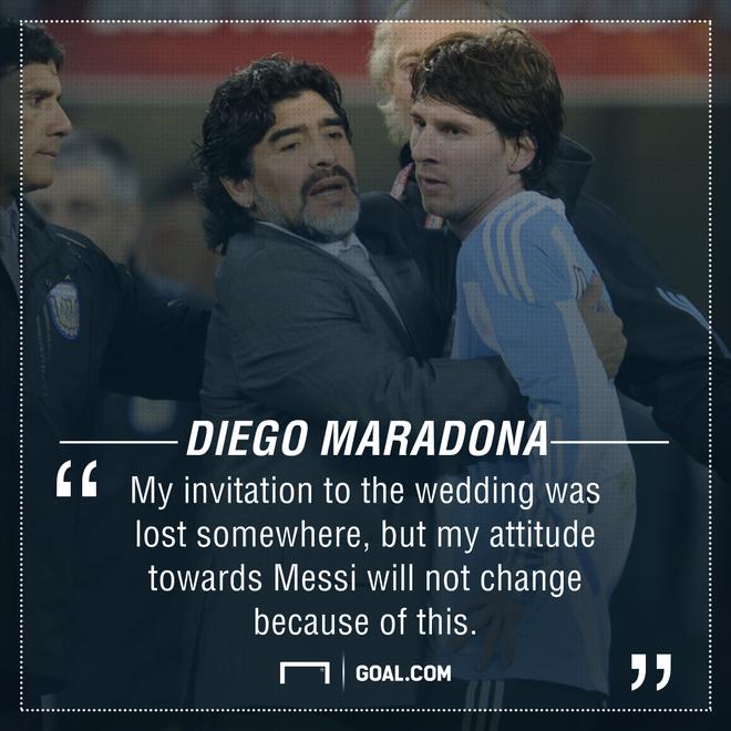 Hé lộ lý do khiến Messi không mời huyền thoại Maradona dự đám cưới - Ảnh 3.