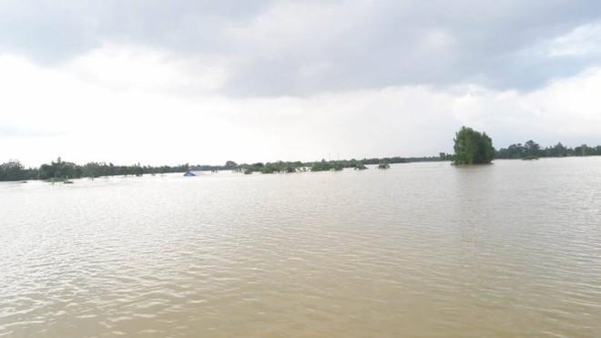 Hình ảnh nước ngập trắng vùng sau sự cố vỡ đê ở Hà Nội - Ảnh 3.