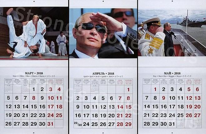 Công ty Nga tung bộ lịch ông Putin siêu ... ngầu - Ảnh 2.