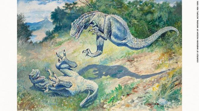 Những bức tranh màu siêu thực về quái vật thời tiền sử - Ảnh 4.