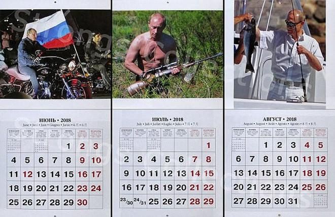 Công ty Nga tung bộ lịch ông Putin siêu ... ngầu - Ảnh 3.