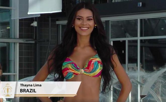 Á hậu Khánh Phương tự tin khoe hình thể trong phần thi áo tắm tại Bán kết Hoa hậu Siêu quốc gia - Ảnh 4.