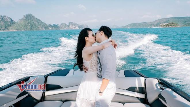 Ảnh cưới lãng mạn trên du thuyền của MC Thành Trung và hotgirl 9x - Ảnh 5.
