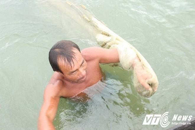 Ly kỳ nghề đi tủ ngâm mình dưới nước 'săn' loài cá tiến vua ngon nức tiếng - Ảnh 4.