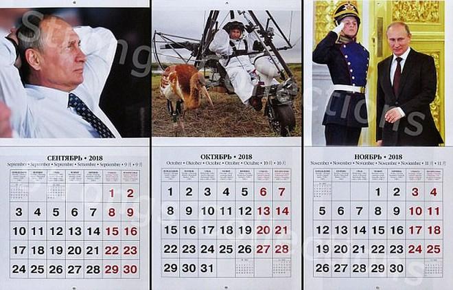 Công ty Nga tung bộ lịch ông Putin siêu ... ngầu - Ảnh 4.
