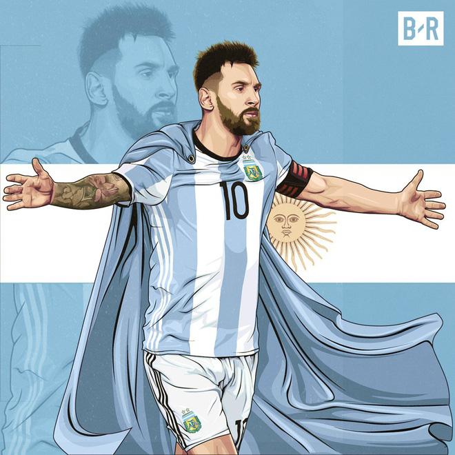 Biếm họa Messi cõng cả tuyển Argentina trên lưng - Ảnh 7.