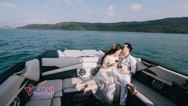 Ảnh cưới lãng mạn trên du thuyền của MC Thành Trung và hotgirl 9x - Ảnh 9.