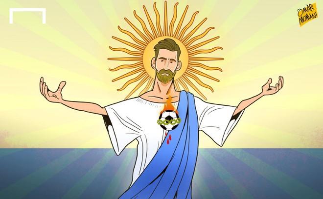 Biếm họa Messi cõng cả tuyển Argentina trên lưng - Ảnh 8.