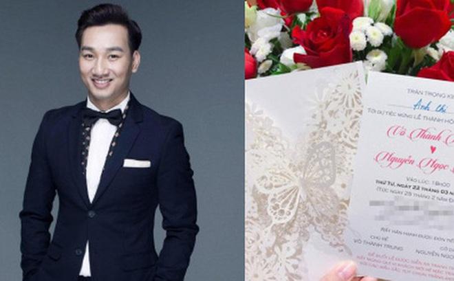 Lộ thiệp cưới cầu kì của MC Thành Trung và bạn gái 9x