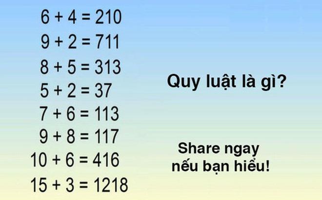 Người ta gọi những người giải được câu đố này trong 01 phút là thiên tài! Còn bạn thì sao?