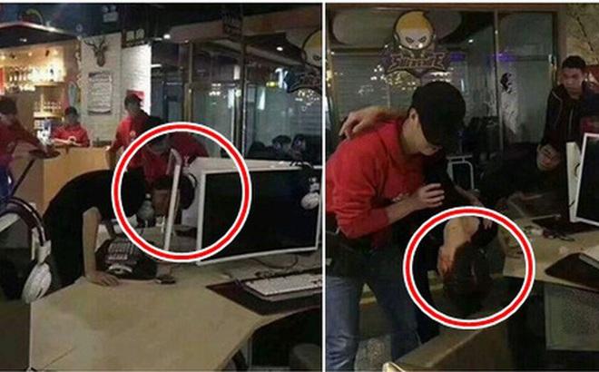 Uất ức vì đồng đội chơi kém, game thủ dùng đầu đâm thủng màn hình máy tính trong quán net