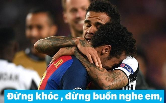 Ảnh chế: Neymar được đàn anh an ủi bằng ca khúc
