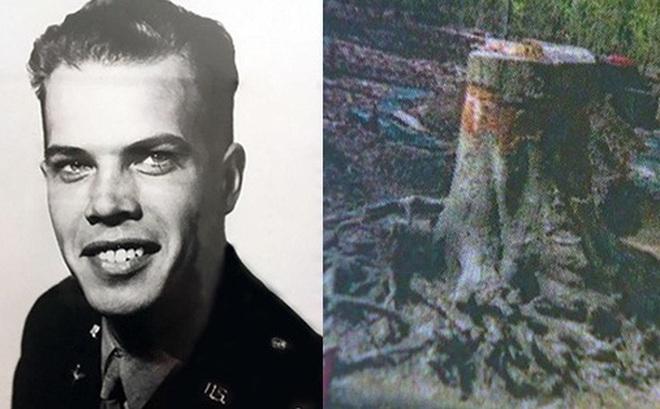 70 năm sau cú nổ máy bay, người ta đã sững sờ khi tìm thấy hài cốt phi công ngập sâu trong rễ cây
