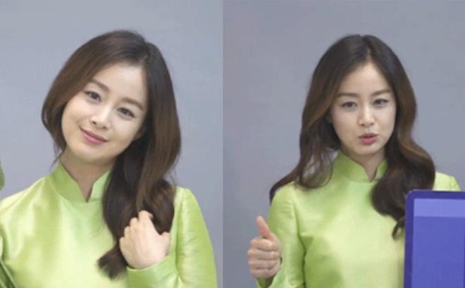 Kim Tae Hee gây xôn xao khi nói tiếng Việt, đẹp tựa nữ thần trong tà áo dài khi đang mang bầu