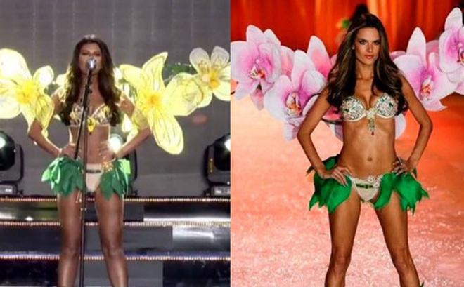 Diện quốc phục bốc lửa, Miss Grand Wales bị tố đạo nhái trang phục Victoria's Secret