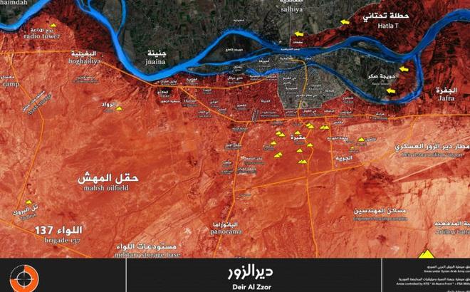 Chiến sự Syria: Quân Assad vây diệt IS tại chảo lửa Deir Ezzor