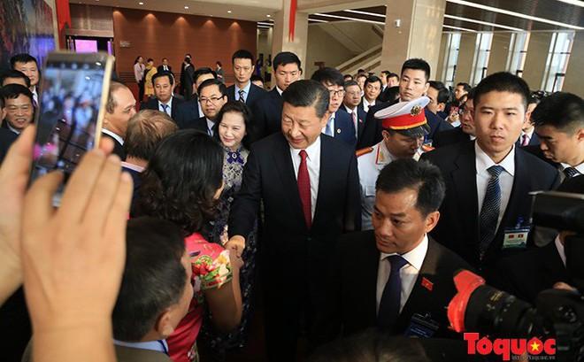 Tổng Bí thư, Chủ tịch Trung Quốc Tập Cận Bình dự lễ khánh thành Cung hữu nghị Việt - Trung
