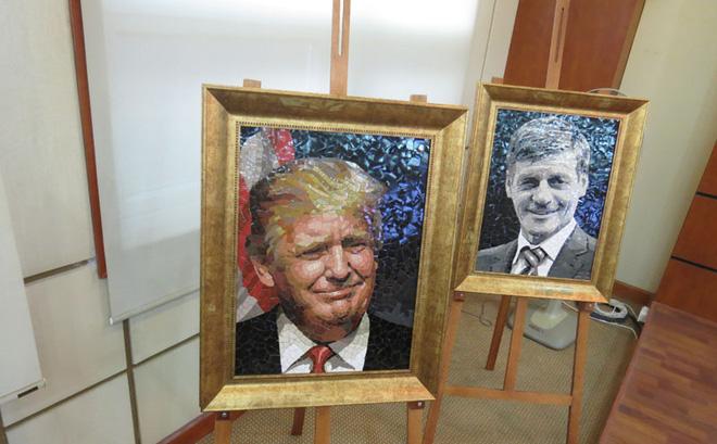 Triển lãm tranh ghép gốm chân dung lãnh đạo các nền kinh tế APEC