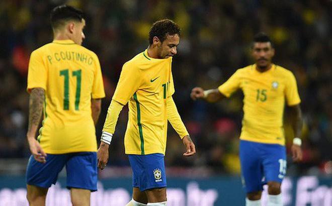 Neymar bất lực, Brazil hòa không bàn thắng với Anh trên sân Wembley