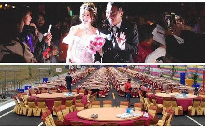 """Dựng tới 600 bàn cỗ trên đường, đám cưới ở Đài Loan khiến cư dân mạng sửng sốt vì """"chơi sang"""""""