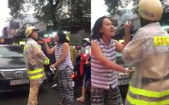 Nữ tài xế hung hãn xô đẩy, chửi bới CSGT ở Sài Gòn khi bị nhắc nhở chạy lấn làn