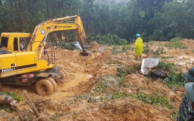 Đang tiếp cận hiện trường 4 công nhân nhà máy điện bị vùi lấp ở Quảng Nam