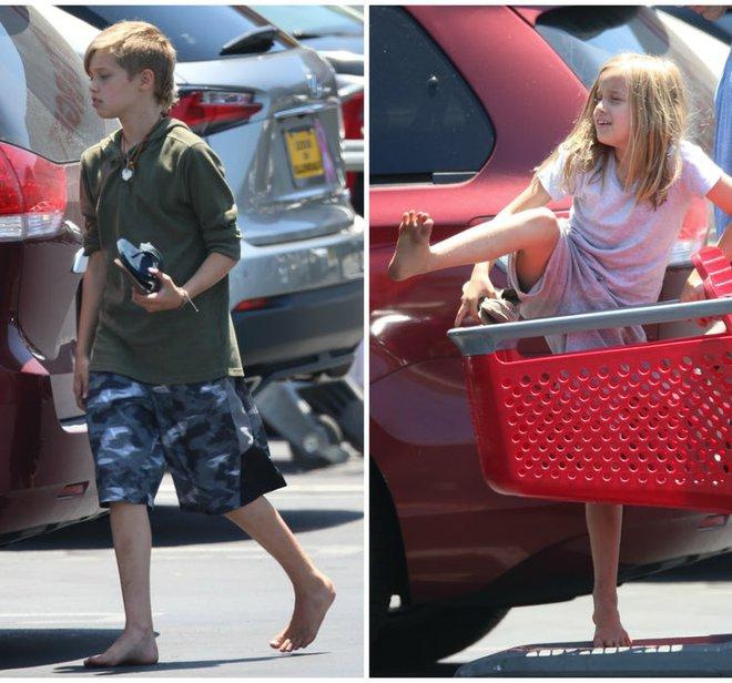 Angelina Jolie để con đi chân đất chơi đùa, Brad Pitt tỏ rõ sự lo lắng  - Ảnh 2.