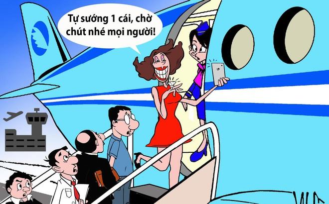 HÍ HỌA: Ai bảo đi máy bay là sướng?