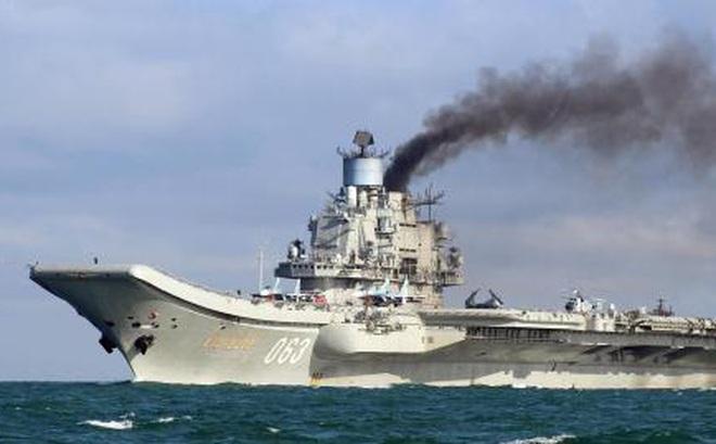 Tàu sân bay Kuznetsov vội vã bỏ về nước khi nhiệm vụ còn dang dở