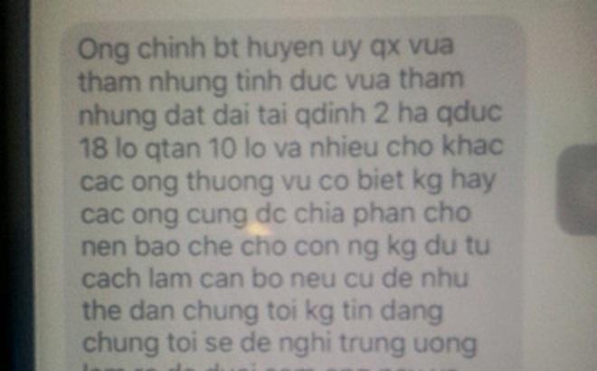 """Vụ Bí thư xã bị bắt ở Thanh Hóa: Vu khống Bí thư huyện """"tham ô tình dục"""" và """"tham nhũng đất đai"""""""