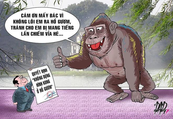 HÍ HỌA tuần qua: Khỉ Kong: Cảm ơn mấy bác vì không lôi em ra Hồ Gươm - Ảnh 3.