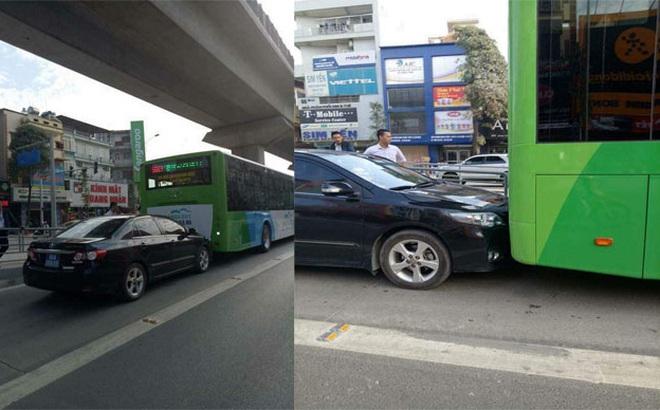 """Xe biển xanh, biển đỏ lấn làn xe buýt nhanh: """"Hình ảnh rất xấu"""""""