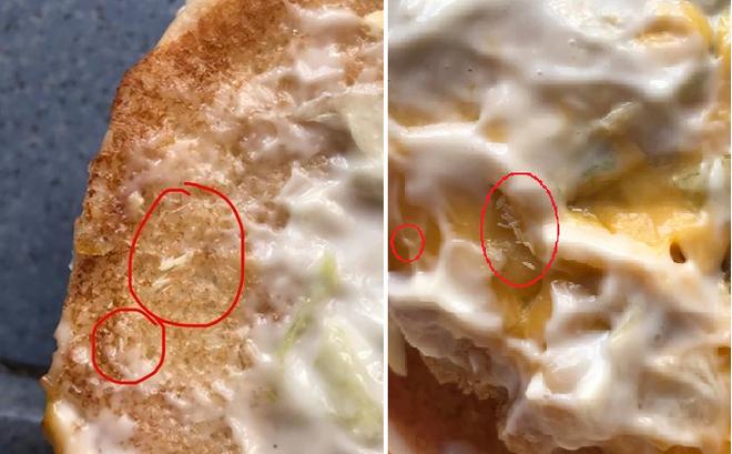 Giòi bọ ngoe nguẩy trong đồ ăn được cho là của McDonald khiến thực khách hoang mang