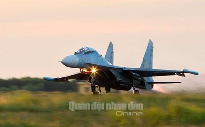 Tiêm kích Su-27 của Việt Nam. Ảnh: Quân đội nhân dân