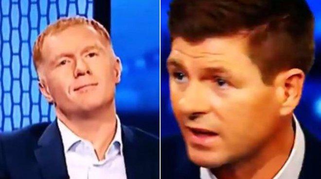 Fan Man United phấn khích trước nụ cười cửa trên của Scholes khi Gerrard nói về Mourinho - Ảnh 2.