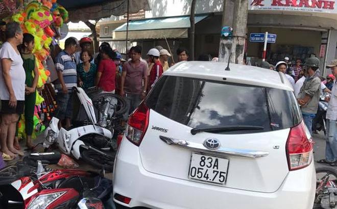 Vụ công an lái ô tô tông 7 xe máy: 'Không có chuyện lấy xe tang vật đi nhậu gây tai nạn'
