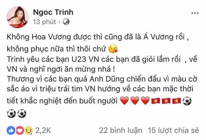 Mỹ Tâm đánh tiếng tới các cầu thủ U23 Việt Nam: Thèm ăn rau muống xào nhớ cho chị biết! - Ảnh 2.