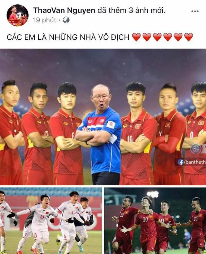 Mỹ Tâm đánh tiếng tới các cầu thủ U23 Việt Nam: Thèm ăn rau muống xào nhớ cho chị biết! - Ảnh 3.