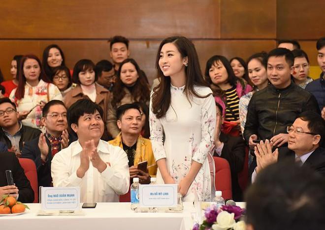 Quang Hải bẽn lẽn khi bị trêu về chiều cao bên Hoa hậu Mỹ Linh - Ảnh 3.