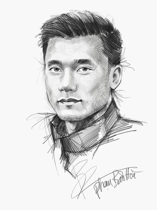 Trọn bộ tranh ký họa dàn cầu thủ cực phẩm U23 Việt Nam - Ảnh 2.