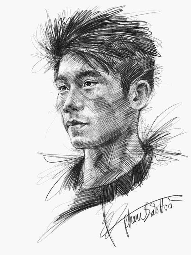 Trọn bộ tranh ký họa dàn cầu thủ cực phẩm U23 Việt Nam - Ảnh 15.